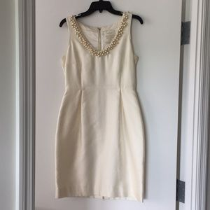 Kate Spade cream colored silk cocktail dress